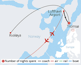 Norway's Arctic Circle Route Map