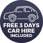 Free Car Hire Included
