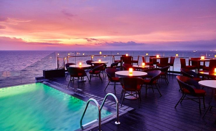 Colombo Pool And Deck At Sunset