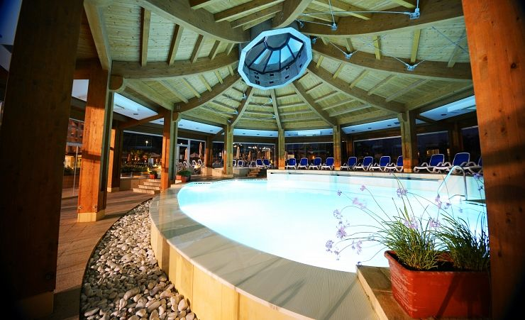 Indoor Pool In The Evening