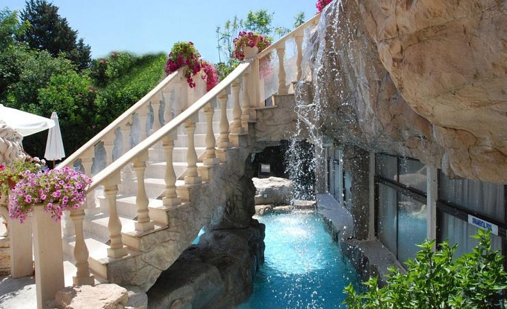 Stairs With Waterfall