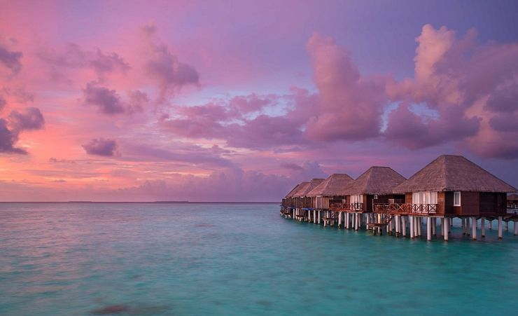 Sunset View Of Water Villas
