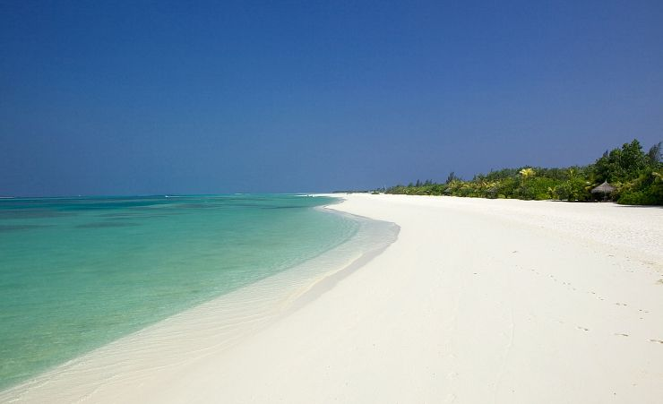 White Sandy Beaches Stretch Around The Island