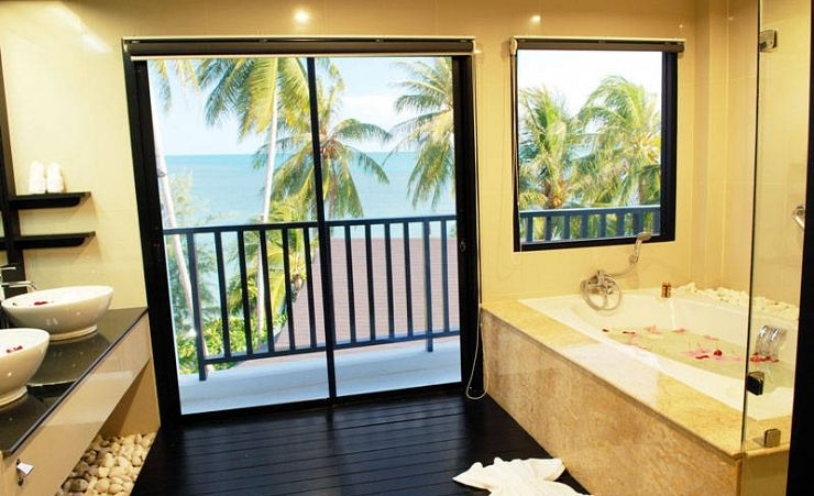 Bathroom With Balcony
