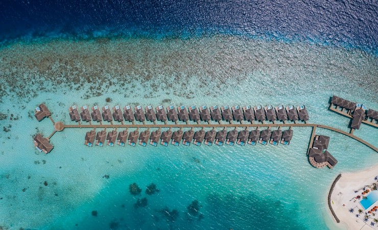 Aerial View Water Bungalows