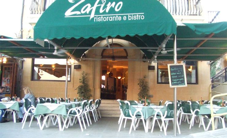 Zafiro Outside Restaurant