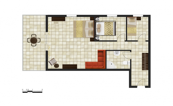 2 Bedroom Suitr