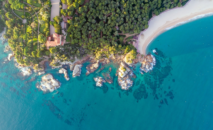 """Aerial View Of Lloret De Mar"""