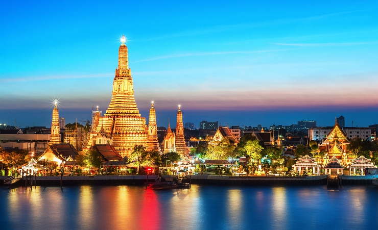 """Wat Arun In Bangkok At Night"""