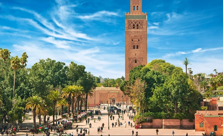 """Main square of Marrakech in old Medina"""