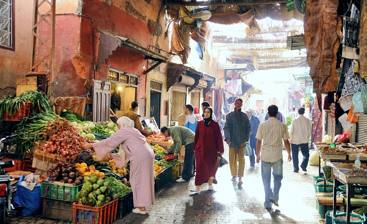 """Souk at the Medina of Marrakech"""