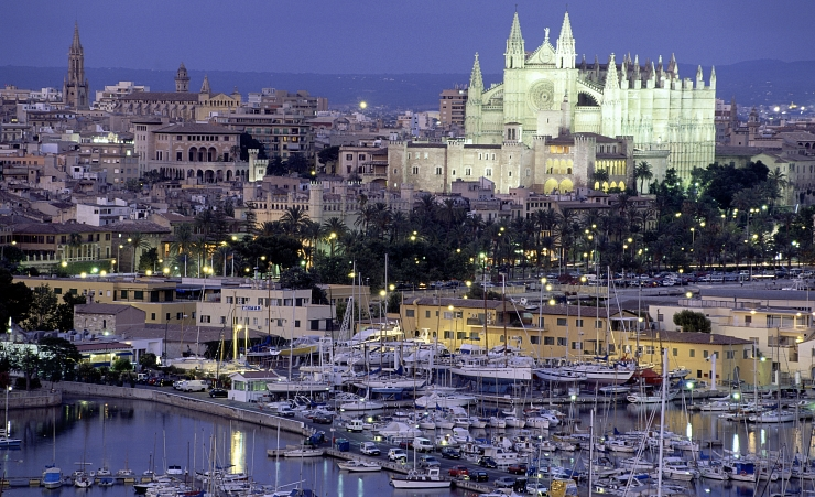 """View Of Palma At Night"""