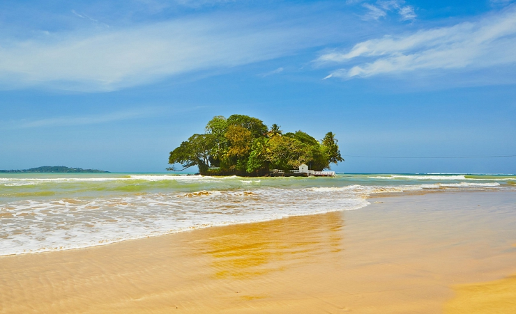 """Taprobane Island From Weligama Beach"""