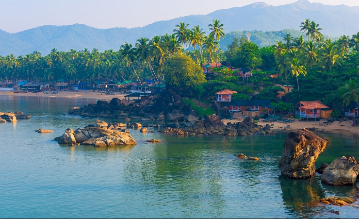 """Palolem Beach in South Goa"""