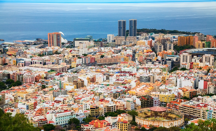 """Aerial View Of Santa Cruz De Tenerife"""