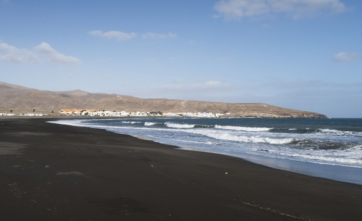 """Dark Sand Beach Near Tarajalejo"""