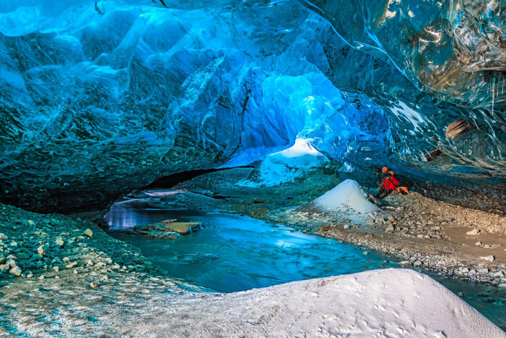 35848613 - ice cave in vatnajokull, south iceland