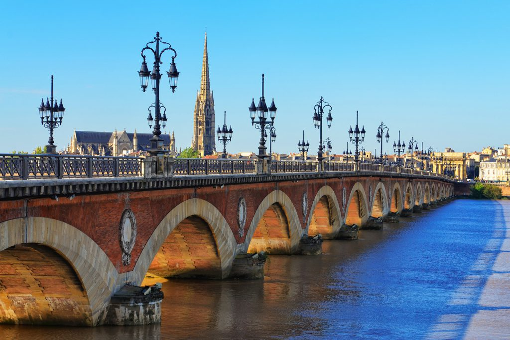 Bordeaux river bridge